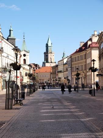 krakowskie przedmiescie: The main street of Lublin: Krakowskie Przedmiescie, Lublin, Poland