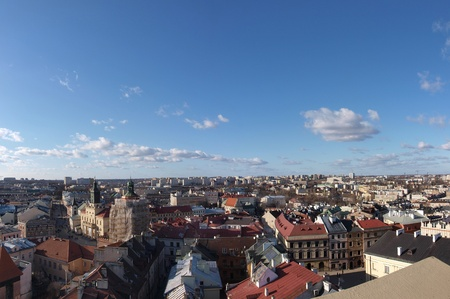 lubelszczyzna: Panorama of Lublin from the Trynitarska Tower, Lublin, Poland Editorial