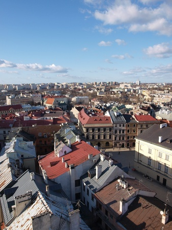 Lublin old town seen from the Trynitarska Tower, Lublin, Poland Stock Photo - 12468910