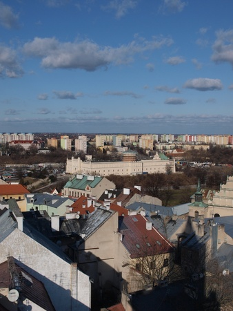 lublin: Lublin castle seen from the top of th Trynitarska Tower, Lublin, Poland