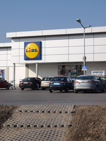 lublin: A discount supermarket chain store Lidl, Lublin, Poland