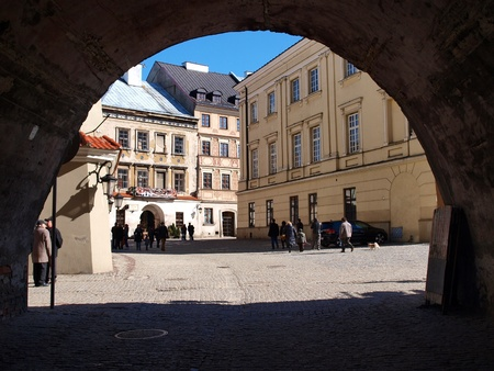 Fragment of the old town of Lublin, Poland