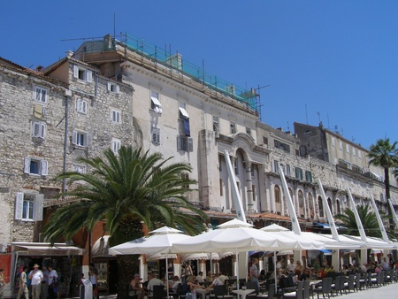 The Palace of Emperor Diokletian and the promenade, Split, Croatia