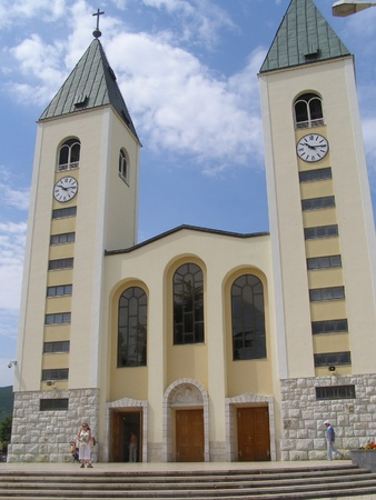 Church of St. James, Medjugorje, Bosnia and Hercegovina Stock Photo - 13141502