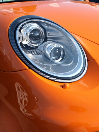 Headlight of a sportscar photo