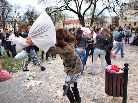 14th: Pillow Fight Day Internacional, Lublin, Polonia, 14 de abril 2012