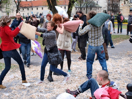 International Pillow Fight Day, Lublin, Poland, April 14th 2012