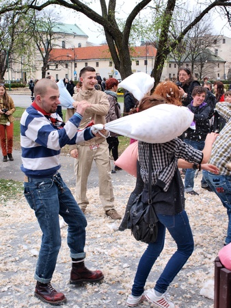 lubelszczyzna: International Pillow Fight Day, Lublin, Poland, April 14th 2012