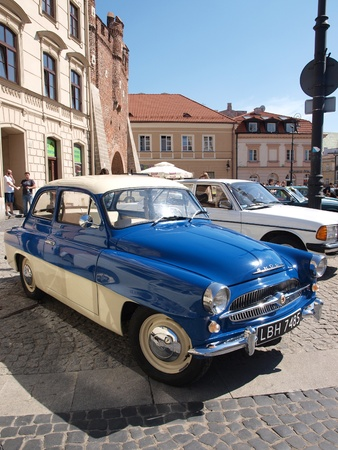 Skoda at the exhibition of old cars, Lublin, Poland, April 28th 2012 Stock Photo - 13436824