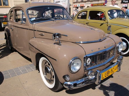 lubelszczyzna: Volvo at the exhibition of old cars, Lublin, Poland, April 28th 2012. Editorial