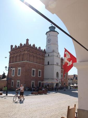 Renaissance town hall in Sandomierz, Poland, May 1st 2012. Stock Photo - 13436826