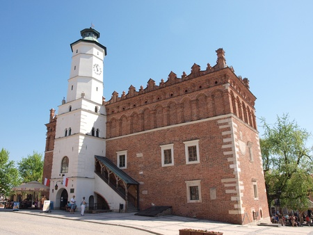 Renaissance town hall in Sandomierz, Poland, May 1st 2012.
