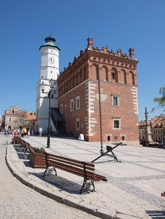 The Renaissance city hall in Sandomierz, Poland, May 1st 2012.