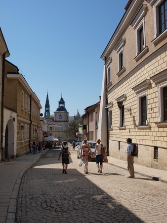 The street leading to the cathedral, Sandomierz, Poland, May 1st 2012. Stock Photo - 13436833