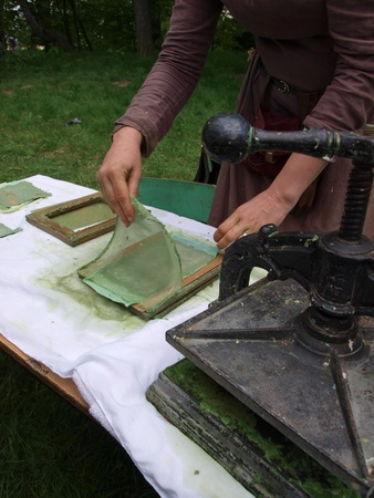 Paper-making in the traditional way Stock Photo