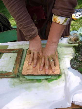 past production: Paper-making as recreated during the historical reenactment show