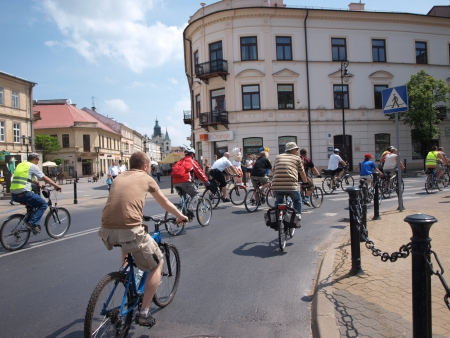 participants: Participants of the cycling event 2nd Family Cycling Rally, Lublin, Poland, May 20th 2012