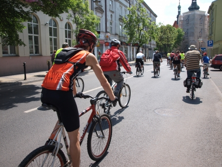 Participants of the cycling event 2nd Family Cycling Rally, Lublin, Poland, May 20th 2012