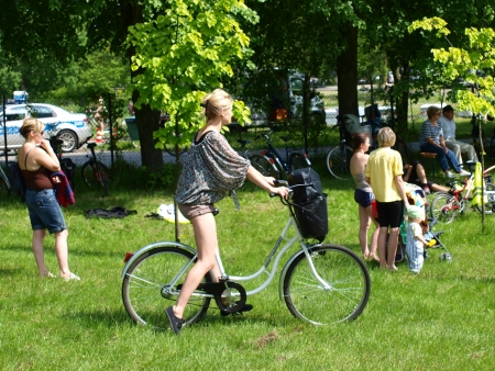 Participants of the cycling event '2nd Family Cycling Rally', Lublin, Poland, May 20th 2012 Stock Photo - 13714800