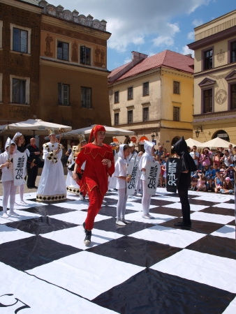 Live chess performed during IV European Chess Festival Lublin 2012 (May 19th - June 10th 2012), Lublin, Poland May 24th Stock Photo - 13775712