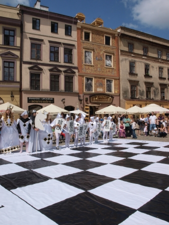 Live chess performed during IV European Chess Festival Lublin 2012 (May 19th - June 10th 2012), Lublin, Poland May 24th Stock Photo - 13775716