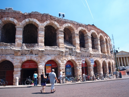 Arena of Verona, the ancient roman amphitheatre, Italy Stock Photo - 13847134