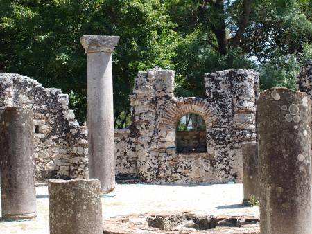 Byzantine baptistery at Butrint, Albania