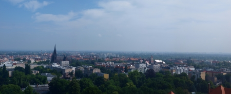 View of Wroclaw, Poland from the tower of the Cathedral photo