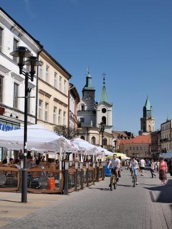 krakowskie przedmiescie: The Lublin city main street Krakowskie Przedmiescie, Lublin, Poland