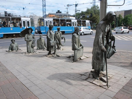Monument to the Anonymous Pedestrians, Wroclaw, Poland