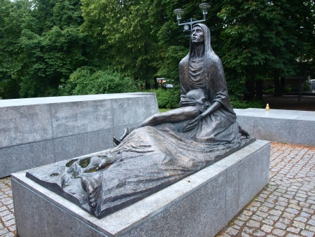 massacre: Monument to the Victims of Katyn massacre, Wroclaw, Poland