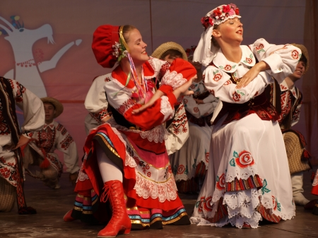 The performance of the folk group Chabarok from Belarus during the 27th edition of the International Folklore Meetings Lublin 2012 (12th-15th July 2012),  Lublin, Poland, July 12th 2012