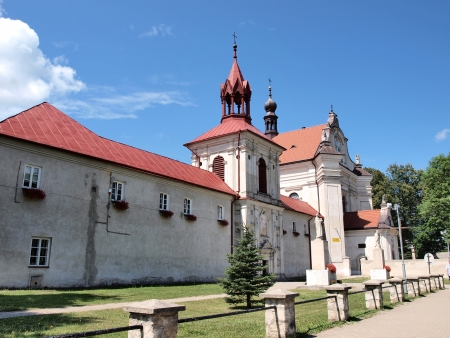 The Dominican monastery and the church of the Visitation of the Blessed Virgin Mary, Krasnobrod, Poland Stock Photo - 14488359
