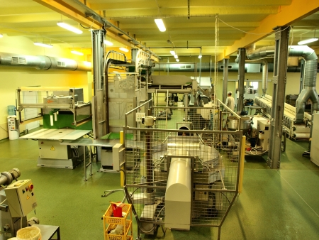A production hall in the candy factory Pszczolka, Lublin, Poland, 18th July 2012. Stock Photo - 14499988