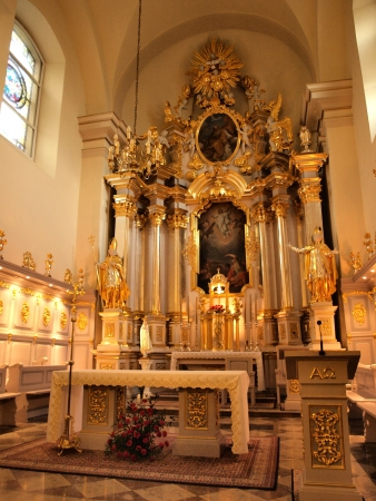 Interior of the Church of the Transfiguration of the Lord, Lublin, Poland Stock Photo - 14499993