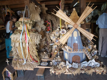 lubelskie: Museum of harvest wreaths, Krasnobrod, Poland