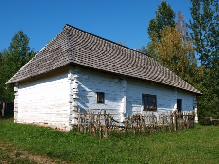 utopian: The old house in Kakonin in the mountain chain Lysogory in the Swietokrzyskie Mountains, Kakonin, Poland