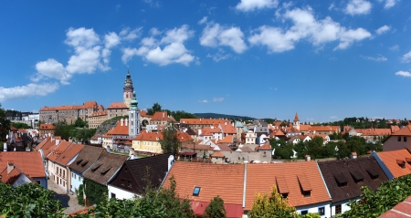 Cesky Krumlov panorama, Czech Republic photo