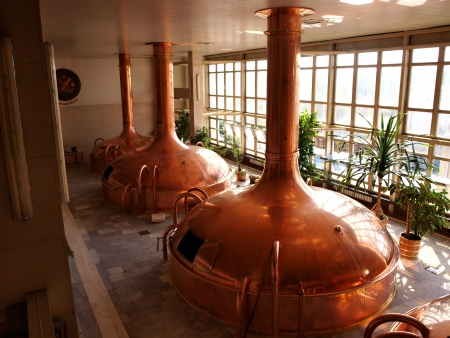 Malthouse at the Budvar brewery, Ceske Budejovice, Czech Republic
