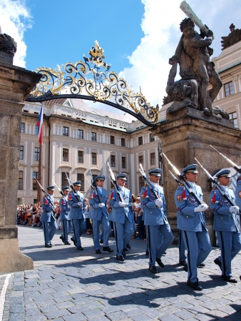 titans: The changing of the guard at the Prague castle, Prague, Czech Republic Editorial