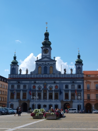 budejovice: Town hall, Ceske Budejovice, Czech Republic