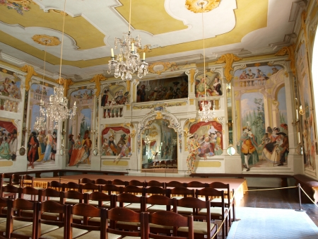 Masquerade Hall, Cesky Krumlov castle, Czech Republic