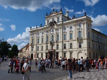 Erzbischof Palace, Hrad?anské namesti, Prag, Tschechische Republik Standard-Bild - 14962661