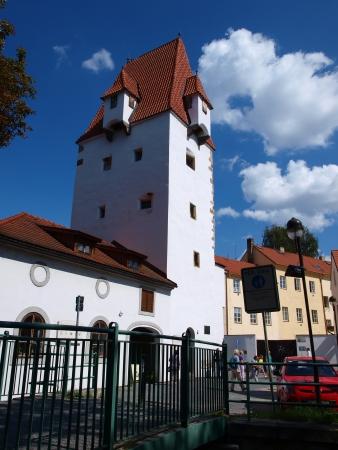 budejovice: Rabenstein tower, Ceske Budejovice, Czech Republic Editorial