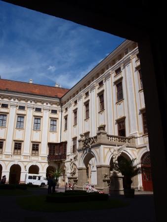 archbishop: The courtyard of the Archbishop Palace, Kromeriz, Czech Republic