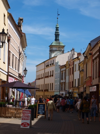 Crowded streets of Kromeriz, Czech Republic