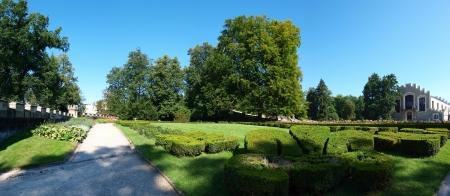 republika: Gardens at the Hluboka nad Vltavou castle, Czech Republic Editorial