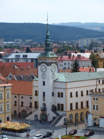 archbishop: Kromeriz town hall seen from the belltower of the Archbishop Palace, Kromeriz, Czech Republic Editorial