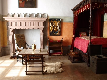 bohemian: One of the rooms in the castle in Jindrichuv Hradec, Czech Republic
