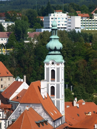 The former St  Josh church, Cesky Krumlov, Czech Republic in the historic old town photo